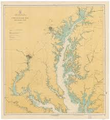 Northern Virginia Map Chesapeake Bay Northern Part 1916 Nautical Map Reprint Ac