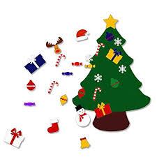 felt christmas 3 6ft large felt christmas tree set with ornaments