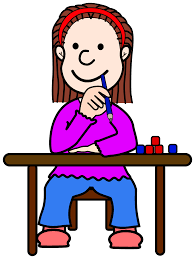 Student At Desk by Clipart Comic Girl Tini At School