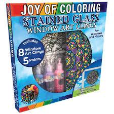Stained Glass Window Decals Amazon Com Zorbitz Joy Of Coloring Stained Glass Window Art Kit