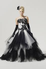 black and white wedding dress the beauty of black and white wedding dresses