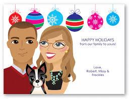 personalized caricature hanukkah card