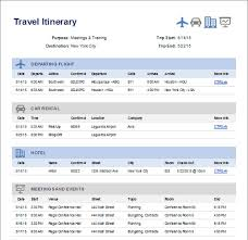 travel itinerary example simple travel itinerary template travel