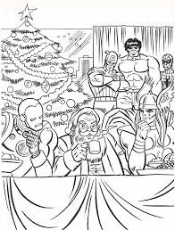 superhero christmas coloring pages in glum me