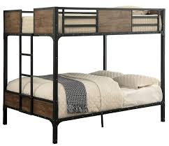American Woodcrafters Loft Bed Clapton Full Over Full Metal Bunk Bed