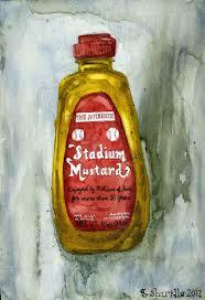 stadium mustard drawing painting mr shirilla