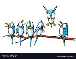 birds on a branch royalty free vector image vectorstock