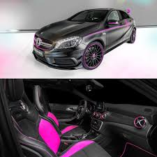 pink mercedes the performance studio created this customized mercedesbenz a45