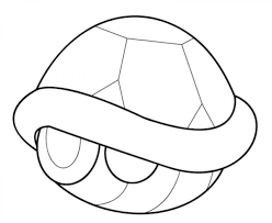 mario kart turtle shell coloring page recipes to cook
