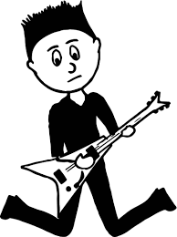 black boy teenager playing rock guitar playing the guitar coloring