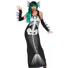 Skeleton Halloween Costume For Kids Mermaid Skeleton Siren Womens Costume Costumes
