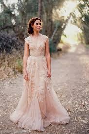 Pink Wedding Dresses With Sleeves Pale Pink Lace Wedding Dress Naf Dresses