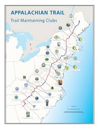 Blue Mountain Beach Florida Map by Appalachian Trail Conservancy Learn About Trail Clubs