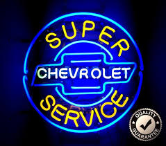 Vintage Home Decor Stores by Super Chevrolet Service Neon Sign Glass Car Mancave Garage Toy