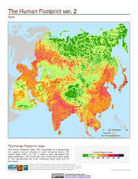 Asia Geography Map Maps Last Of The Wild V2 Sedac
