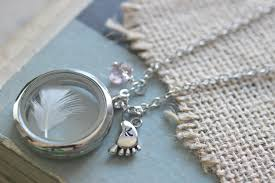 infant loss gift new jewelry necklace floating locket baby keepsake