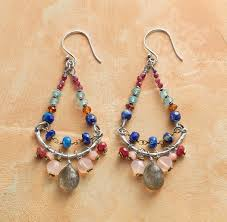 Garnet Chandelier Earrings Country Chandelier Earrings Chandelier Earring With Lapis