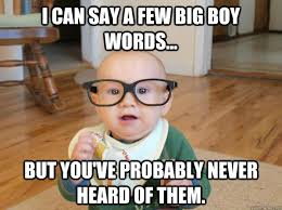 Big Words Meme - i can say a few big boy words but you ve probably never heard of