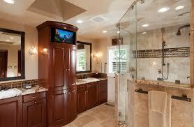 Tv In Mirror Bathroom by White Subway Tile Bathroom Bathroom Craftsman With Beadboard Walls
