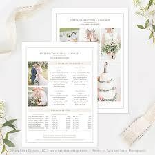 wedding photography pricing wedding photography pricing template photography price list