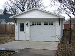 Garage With Loft 16 X 22 One Carone Car Detached Garage With Loft Door Screen