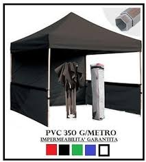 gazebo in alluminio pieghevole gazebo pieghevole nero alluminio esagonale 40mm 3x3 4 teli