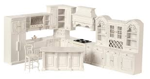 kitchen dollhouse furniture 1 12 scale miniature grand manor white kitchen collection