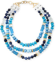 blue beaded necklace images Blue beaded necklace shopstyle jpg