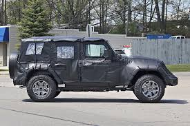 jeep wrangler military style 2018 jeep wrangler jl spied shows new hardware autoevolution