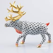 deer reindeer herend figurines herend porcelain animals