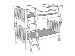 Bunk Bed Drawing B209 Bunk Bed The Bunk Loft Factory