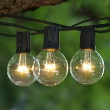 c9 incandescent light strings 25 ft black c9 string light with led g50 premium warm white bulbs