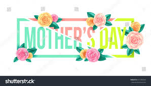 floral mothers day graphic designmothers day stock vector