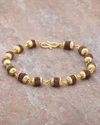 gold tone bracelet images Buy designer mens bracelets faux rudraksha beads gold tone jpg
