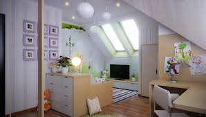 bedroom modern living room attic space with sun glass window
