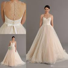 dreaming of wedding dress dreaming 2015 chagne wedding dresses with pearls sheer neck