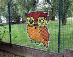 Barn Murals My Owl Barn Cross Stitch Murals On Chain Link Fences