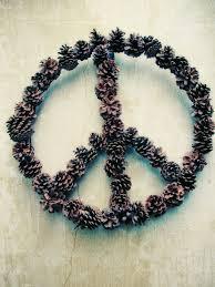 pinecone peace wreath diy crafts pinterest pinecone peace