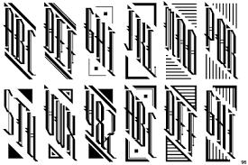 three letter monogram identifont monogram
