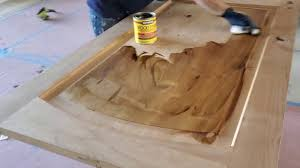 how to refinish alder wood cabinets how to stain on alder doors using wipe on method