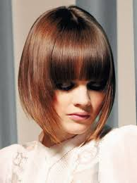 graduated bob with fringe hairstyles weekly