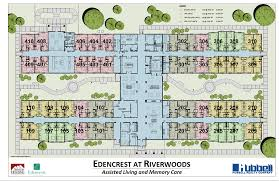 Assisted Living Facility Floor Plans by Floor Plans Edencrest