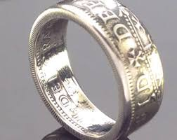 52nd wedding band 1966 coin ring etsy