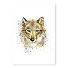 aliexpress com buy nordic home decor be smart today wolf mural