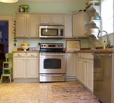 Paint Wood Kitchen Cabinets Furniture Wooden Chalk Paint Cabinet With Stove And Oven Adde