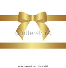 decorative ribbons decorative gold bow horizontal gold ribbon stock vector 530524477