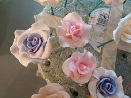 wedding cake gum 24 edible small ombre roses gum paste fondant any color