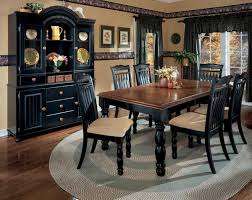 black and wood dining table black dining room sets dining room sets