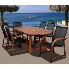 Hampton Bay Patio Dining Set - hampton bay fall river 7 piece patio dining set with chili cushion