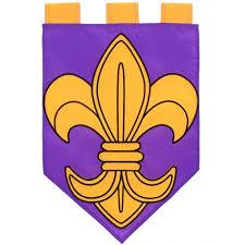 Purple Flag Purple U0026 Gold Pennant Fleur De Lis Garden Flag 0876fm